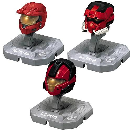 HALO Helmet 3PKs Series 1 - Set 1: Mark VI, EOD, CQB all Red