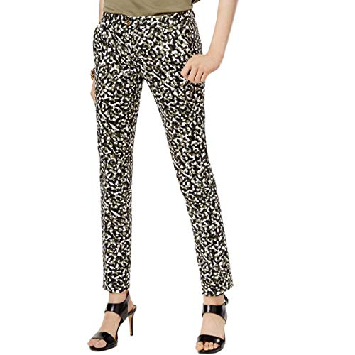 Michael Michael Kors Womens Miranda Camouflage Work Wear Ankle Pants Green ()
