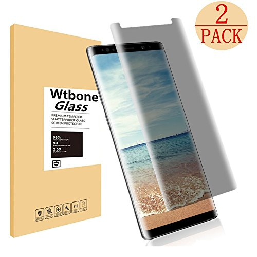 Galaxy Note 8 Tempered Glass Screen Protector, EcoPestuGo - Privacy [Case-Friendly][9H Hardness][Anti Peeping][Easy to Install] Compatible Samsung Galaxy Note 8 [2Pack]
