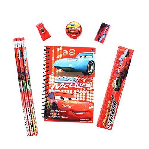 Officially Licensed Disney Pixar 8 Piece Stationery Set Cars