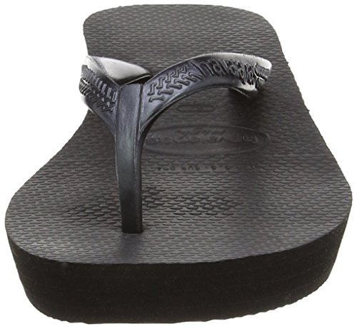 Havaianas High Light, Chanclas para Mujer, Negro (Black 0090), 41/42 EU (39/40 Brazilian)