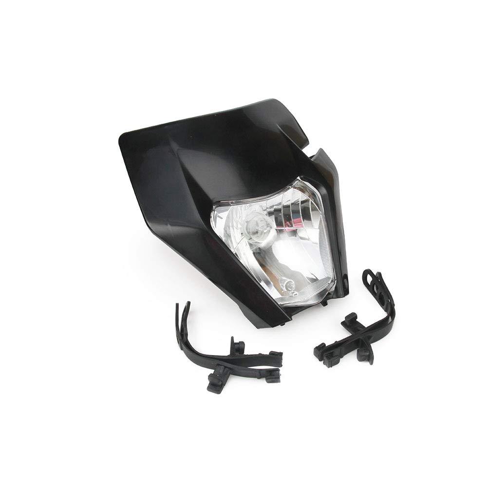 Tenedores de Motocicleta con 2 Correas de Goma H4 12 V 35 W Fast Pro Faros Delanteros universales con Kit de Montaje para KTM Dirtbike Dirt Bike Tiras de Goma antivibraci/ón