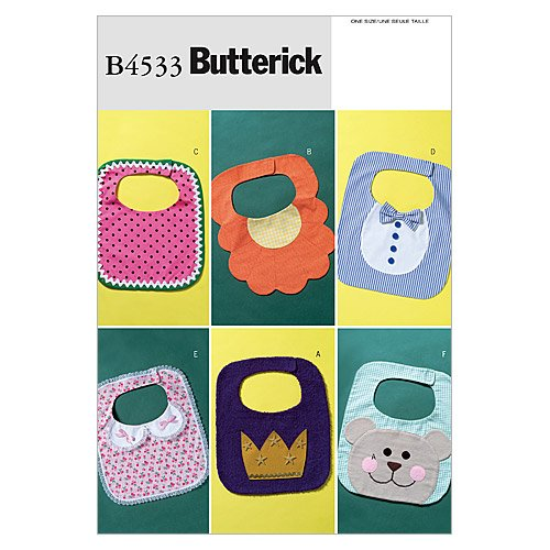 BUTTERICK PATTERNS B4533 Baby Bibs, One Size Only
