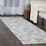 Home Dynamix and Christian Siriano |Brooksville Lambeth Runner | Plush Polyester Indoor Rug | Modern Style, Designer Fashion | Plush, Soft, Comfy | Blue,2'x7'
