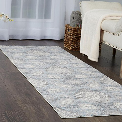 Home Dynamix and Christian Siriano |Brooksville Lambeth Runner | Plush Polyester Indoor Rug | Modern Style, Designer Fashion | Plush, Soft, Comfy | Blue,2'x7' by Home Dynamix