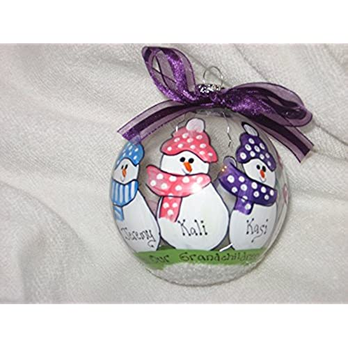 Blessed With Grandchildren Personalized Christmas Ornament