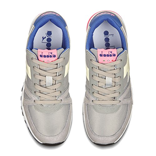 C6491 90 FLUO PINK Unisex Low Diadora Run Sneaker Adults' Neck PALOMA GRAY R6ag0