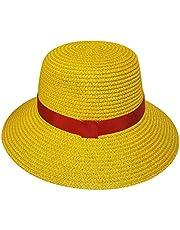UCAI - Sombrero Luffy de una pieza, diseño de anime japonés, color amarillo