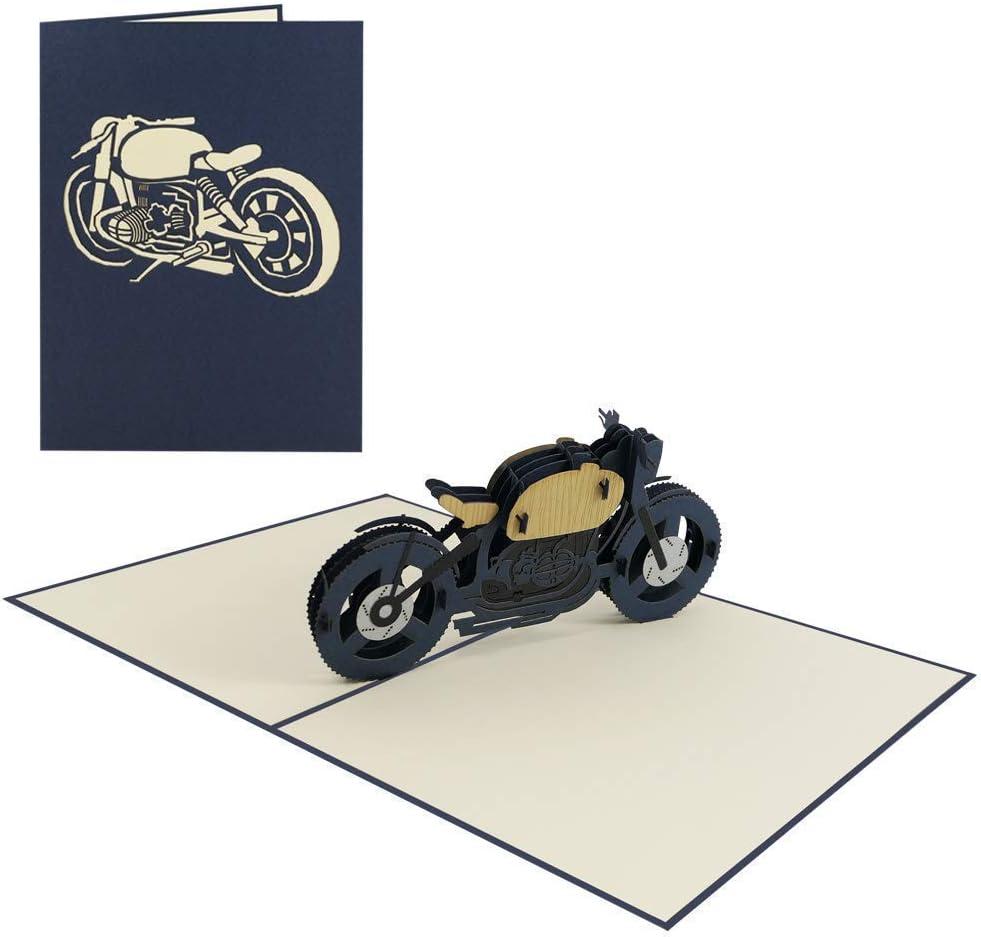 Motorrad 8/8 Geburtstagskarte Motorrad 8D Pop Up Karte Gutschein ...