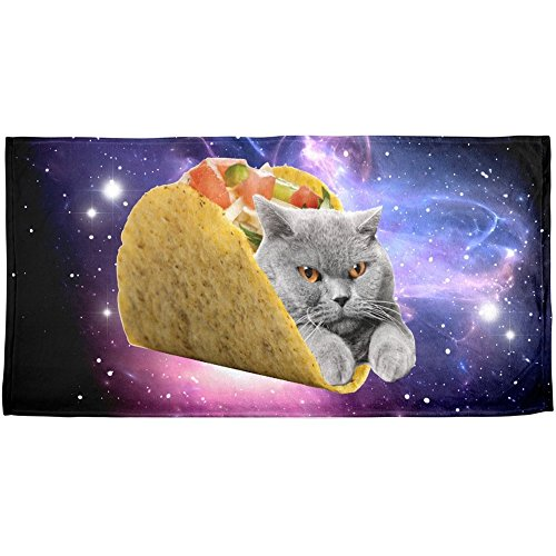 Taco Rail (Beach Towel 30 x 60 Inches Taco Cat Design Machine)