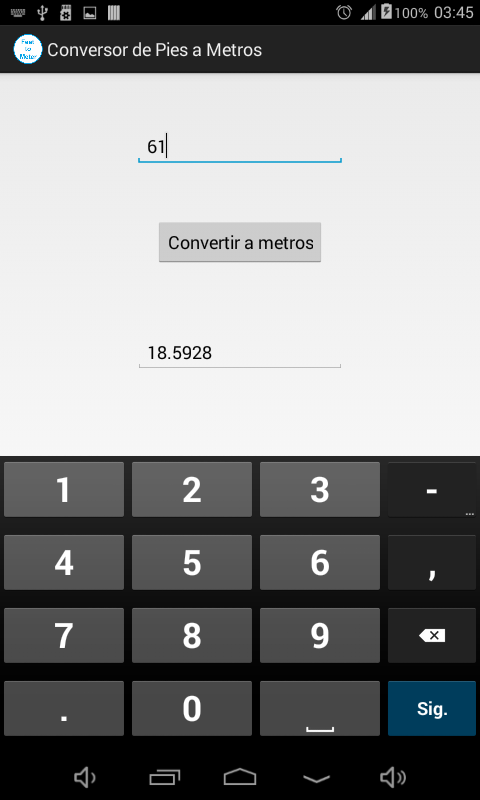 Amazoncom Conversor De Pies A Metros Appstore For Android