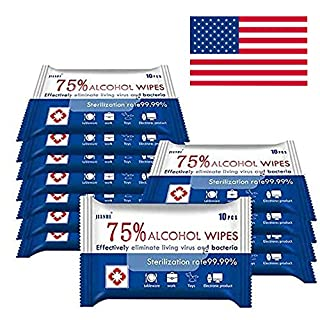 "10Pack,100pcs Portable Cleaning Wipes, Hand Wipes,Large Wipes(8""6""),Delivery from USA 2 to 6 Days"