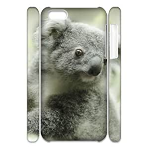 Cell phone 3D Bumper Plastic Case Of Koala For iPhone 5C by icecream design