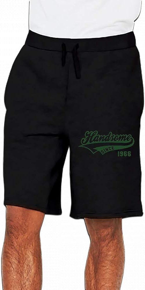 JiJingHeWang Handsome Sinceirthday Anniversary Design Mens Casual Short Trouser