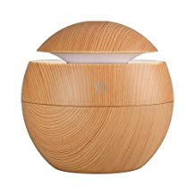 Qosea 130ml Ultrasonic Cool Mist Humidifier Essential Oil Aroma Diffuser with Touch Switch Super Silent Operation 6 Color LED Lights Changing for Office, Bedroom, Baby Room and Yoga
