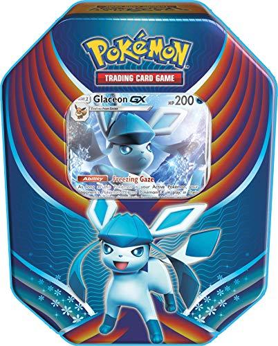 Large Celebration Tin - Pokemon 2018 Fall Evolution Celebration Tin- Glaceaon-Gx + A Foil Gx Card + 4 Booster Pack
