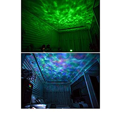 YRLED Ocean Wave Music Projector LED Night Light ,Built in High Power Speaker with 7 Color Changing Modes ,White