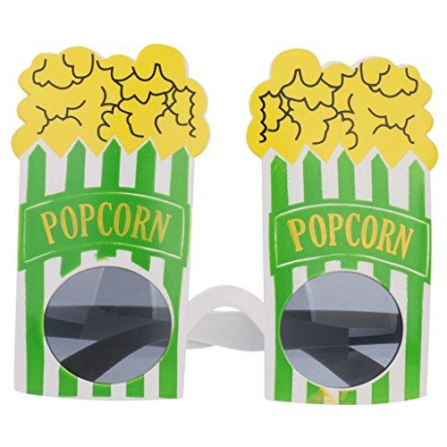 [Novelty Popcorn Sunglasses Fancy Dress Costume Party Glasses Shades Googles] (Google Glass Costume)
