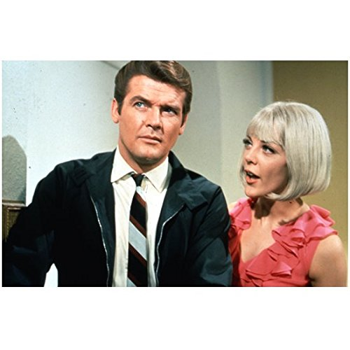 8cb7e88e The Saint (TV Series 1962 - 1969) 8 inch x10 Inch Photo Roger Moore Blonde  Wearing Pink Next to Him kn at Amazon's Entertainment Collectibles Store