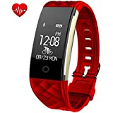 Fitness Tracker,Juboury Heart Rate Activity Tracker Touch Screen Wearable Pedometer Bluetooth Smart Wristand with Sleep Monitor,Steps Counter,Calories Track for Android and IOS Smart Phones
