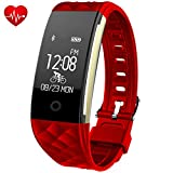 Fitness Tracker,Juboury Heart Rate Activity Tracker Touch Screen Wearable...