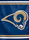NFL St. Louis Rams Garden Flag, 11 x 15-Inch/Small, Black