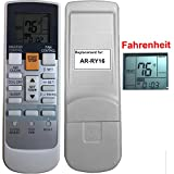 Replacement for Fujitsu Air Conditioner Remote Control Model Number AR-RY16 works for 24CL1 30CLX 30CLX1 36CLX1 ASU12R2 ASU24CL ASU24CL1 ASU24RLQ ASU24RLXQ ASU24RLXQ1 ASU30CLX ASU30CLX1 ASU30RLXQ