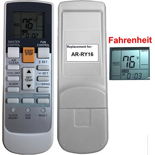 Replacement For Fujitsu Air Conditioner Remote Control Model Number Ar Ry16 Works For 24Cl1 30Clx 30Clx1 36Clx1 Asu12r2 Asu24cl Asu24cl1 Asu24rlq Asu24rlxq Asu24rlxq1 Asu30clx Asu30clx1 Asu30rlxq