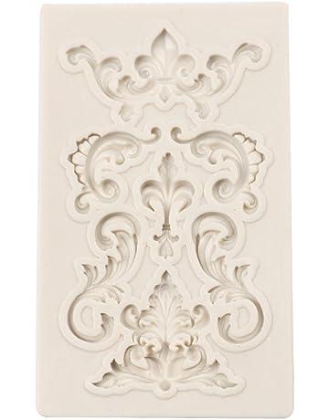 Molde para tartas en relieve con forma de patrón creativo de silicona molde DIY decoración 3D