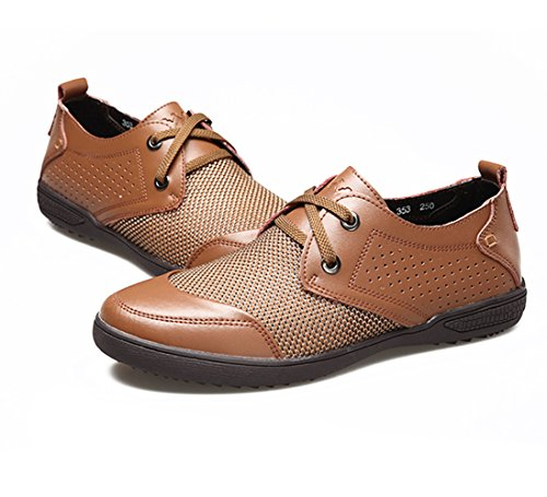Mens Mesh Casual Walking Shoes - For Working, Hiking and Outdoor Activities Khaki2