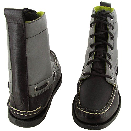 Sperry Top-Sider Mens A/O 7 Eye Nylon Boot Shoe Black/Grey lLF2pwqtLx