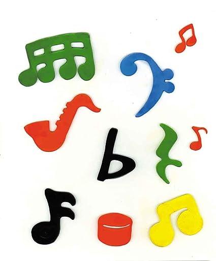 Amazon com - Music Treasures Co  Molded Music Symbol Stikee Pak #2