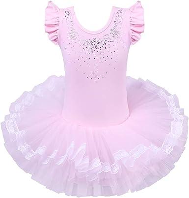 BAOHULU Girls Skirted Dance Leotard Ballet Tutu Dress 3-8 Years