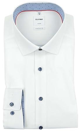 Olymp Hemd Luxor Comfort Fit weiß gemustert, Kragenweite:48