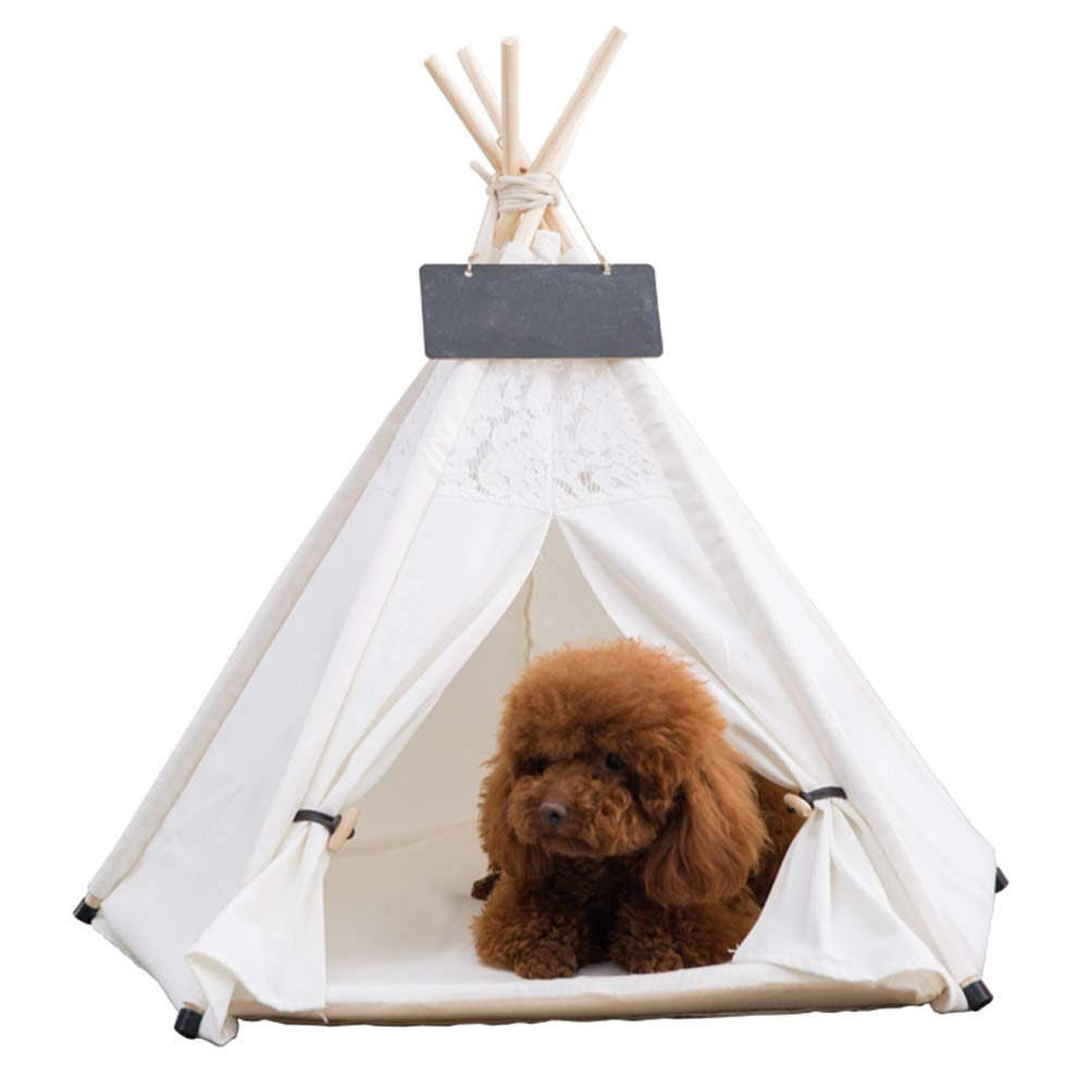 Amazon com: MUJING Pet Teepee for Cats Dogs Rabbits- Indoor or