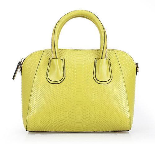 VIVILLI Snake Print Leather Tote Bag-Green, Bags Central