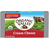 Organic Valley Organic Pasteurized Cream Cheese Bar, 8 Ounce -- 12 per case.