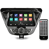 2014 Hyundai Elantra Touchscreen Stereo Radio Receiver, GPS Navigation, Bluetooth Wireless, Hands-Free Talking, 7'' HD Display, Double DIN (PHYELANT14)