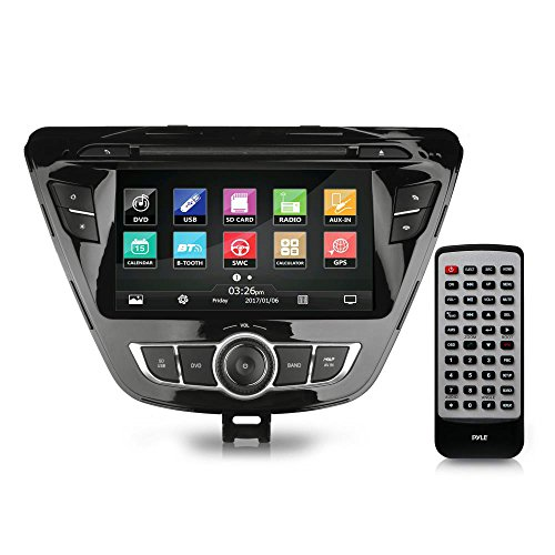 2014 Hyundai Elantra Double Din - Replacement Touchscreen Car Head Unit Stereo Radio Receiver with USB, GPS Navigation System, Compatible to bluetooth, DVD Player, Wireless and Handsfree - PHYELANT14