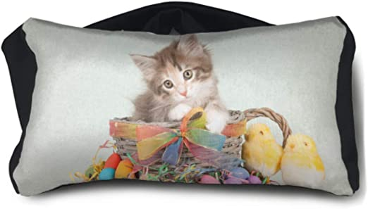Amazon Com Enevotx Compact Neck Pillow Easter Themed Norwegian Forest Cat Kitten Unisex Multi Purpose Youth Travel Pillow One Size Fits All For Family Airplanes Office Trip Home Kitchen