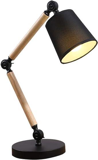 E27 Lampe de table avec bascule design noir lampe de lecture