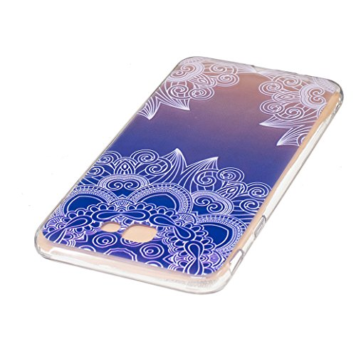 Funda Huawei Mate 9, AllDo Funda TPU Silicona para Huawei Mate 9 Funda Transparente Claro Carcasa Flexible Suave TPU Silicone Case Soft Cover Carcasa Protectora Funda Ultra Delgado Caja Ligero Esbelto Loto azul