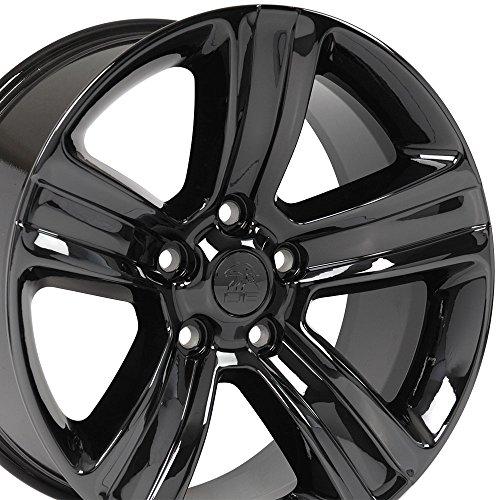 OE Wheels 20 Inch Fits Chrysler Aspen Dodge Dakota Durango Ram 1500 Night Edition Style DG65 Black Chrome 20x9 Rim Hollander 2453 (1500 Ram Rims 2014)