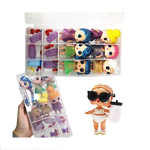 Wotryit 6 Little Sisters Cutest Little Toys, Adorable Mini Dolls Surprised Box Dolls for Girls Ages 3+ (Random)