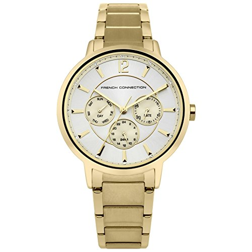 French Connection Women's Quartz Metal and Stainless Steel Casual Watch, Color:Gold-Toned (Model: FC1300GM)