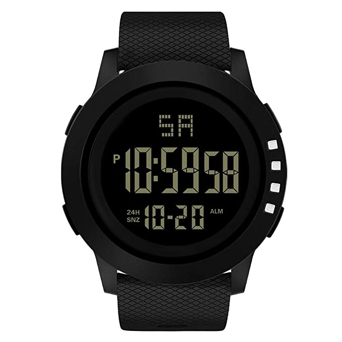♫ LSAltd ☪- Reloj Digital Hombres Reloj Inteligente Metro Electrónico Reloj Impermeable con Depuración de Pantalla Grande Reloj de Pulsera de Estilo ...