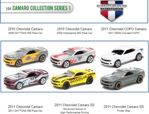 6 Piece Set: Green Light 1:64 Die Cast Camaro Collection Series (Camaro Detail Set)