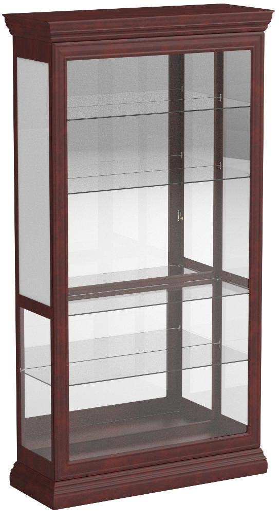 Pulaski Two Way Sliding Door Curio, 43 by 16 by 80-Inch by Pulaski