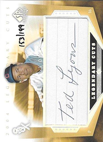 2004 Upper Deck SP Legendary Cuts Autographs #TL Ted Lyons NM-MT Auto 153/199 White Sox