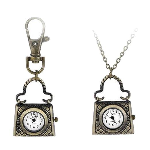 aloiness Metal Bolso Llavero Reloj Llavero Bolsa Bolsillo de ...